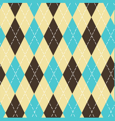 Seamless argyle pattern with chaotic golden dots vector