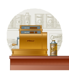 Retro cash register vector