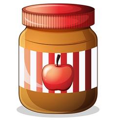 A bottle of apple jam vector image