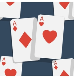 Casino poker seamless background vector image