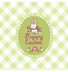 Happy easter card with bunny in vector
