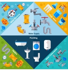 Water supply corners vector