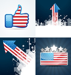 Collection of american flag background vector