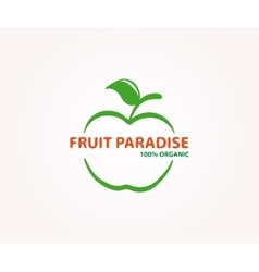 Logo design element apple fruit eco vector