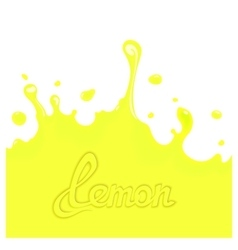 Lemon juice splash vector