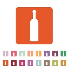 The wine bottle icon bottle symbol flat vector