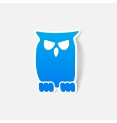 Realistic design element owl vector