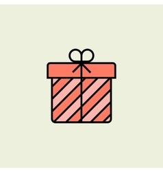 Christmas gift box icon vector