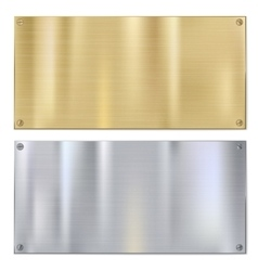 Shiny brushed metal vector