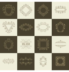 Vintage Floral Frames for your Logo vector image