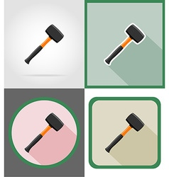 Repair tools flat icons 12 vector