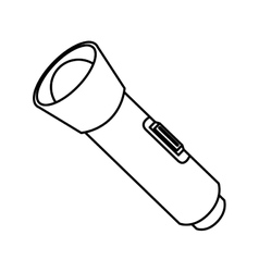 Flashlight bulb object icon vector