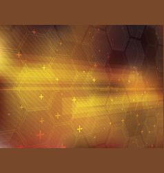 Abstract background with technology shapes vector