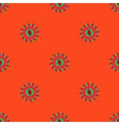 Abstract seamless pattern with fractal mandala on vector
