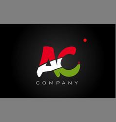 Ac a c alphabet letter logo combination icon vector