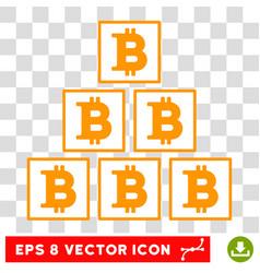 Bitcoin pyramid eps icon vector