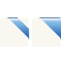 Blue paper corners vector