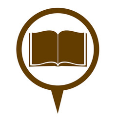 Brown contour with book in circular speech vector