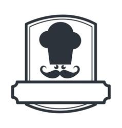 Chef hat restaurant emblem vector