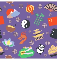 China seamless pattern vector image vector image