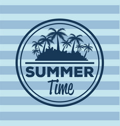 Colorful stripe background with logo summer time vector