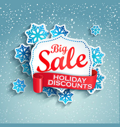 concept of holiday discount vector image vector image