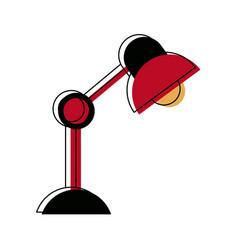 Desk lamp electric bulb light element vector