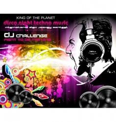 Dj music flyer vector image vector image
