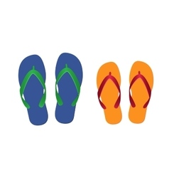 flip flops isolated vector image vector image