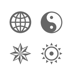 Four nice sign icons of eternal essence vector