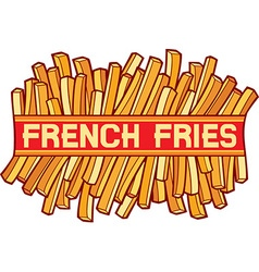 French fries vector image vector image