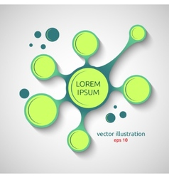 Infographic green design vector image