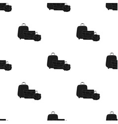 Luggage icon in black style isolated on white vector