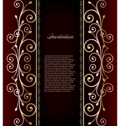 luxurious invitation card vector image vector image