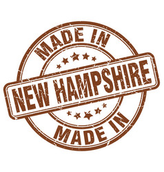 Made in new hampshire brown grunge round stamp vector