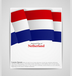 national flag brochure of netherland vector image