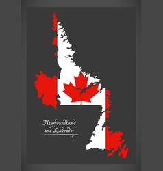 newfoundland and labrador canada map vector image vector image