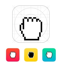 Pixel fist cursor icon vector image