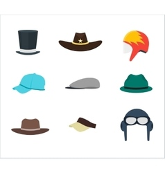Professions hats set for men vector