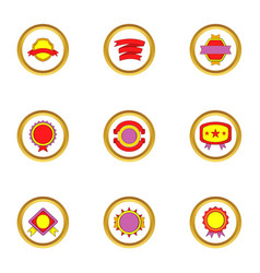 quality mark icons set cartoon style vector image