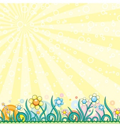 retro style meadow vector image
