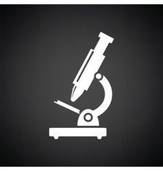 School microscope icon vector image