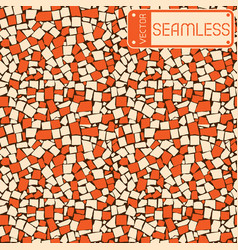 Seamless texture of ivory and orange two colored vector