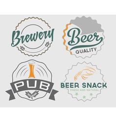 set of vintage beer emblems vector image