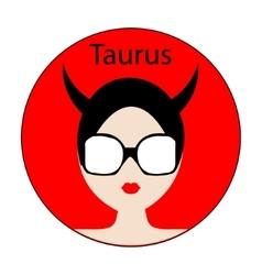 Taurus zodiac sign vector image vector image