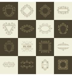 Vintage floral frames for your logo vector