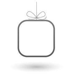 Minimalistic frame gift background vector image