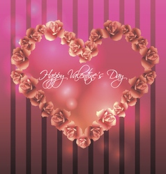 Template for card invitation for valentines day vector