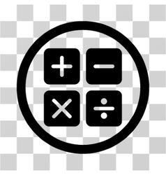 Calculator flat rounded icon vector