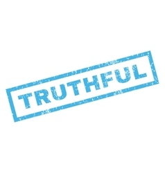 Truthful rubber stamp vector